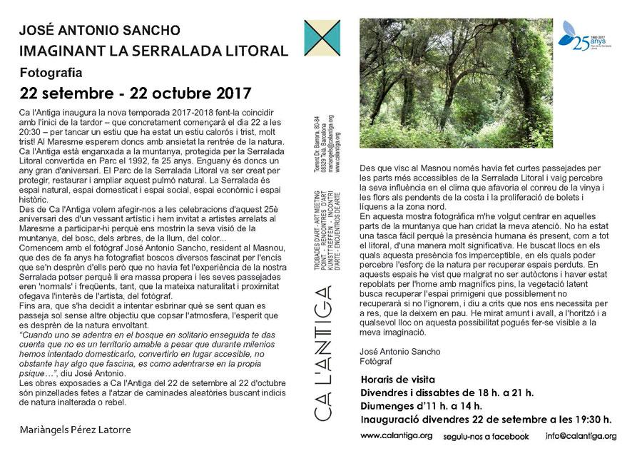"""José Antonio Sancho """"Imaginant la Serralada Litoral"""""""